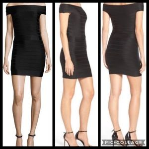 FRENCH CONNECTION Black Fitted Bandage Dress